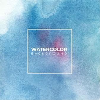 Fundo abstrato azul da aguarela, pintura da mão. cor espirrando no papel branco