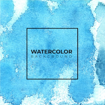 Fundo abstrato azul da aguarela, pintura da mão.