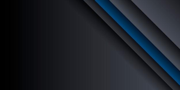 Fundo abstrato azul e preto com textura de retângulo sobreposto