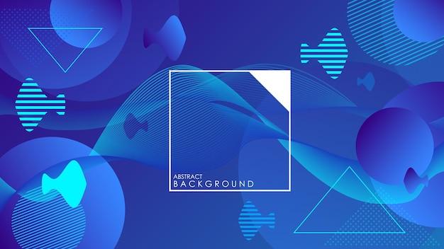 Fundo abstrato azul escuro com conceito corporativo moderno. ilustração vetorial