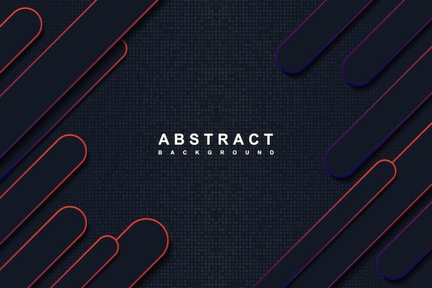 Fundo abstrato azul escuro e formas arredondadas gradientes