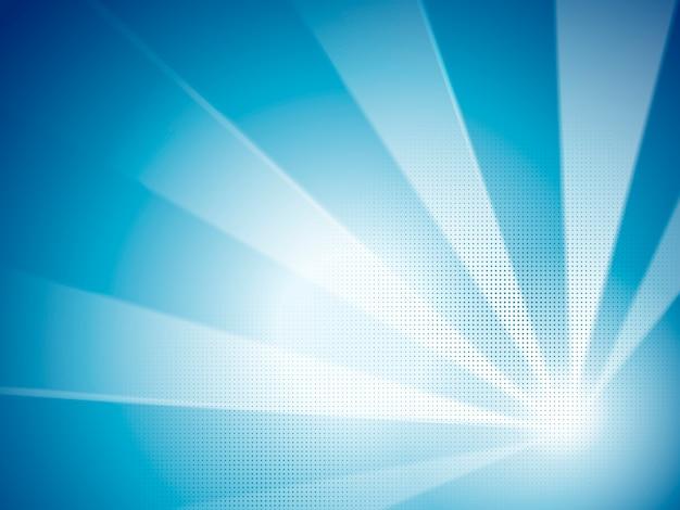 Fundo abstrato azul, faixa azul com elementos de meio-tom no desenho animado