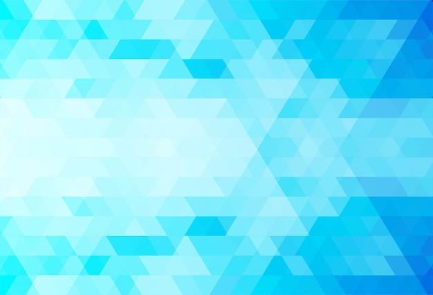 Fundo abstrato azul formas de triângulo