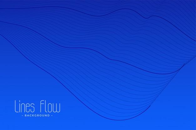 Fundo abstrato azul linhas fluidas