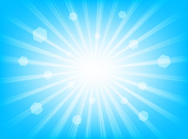 Fundo abstrato azul linhas radiais