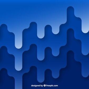 Fundo abstrato azul no design plano