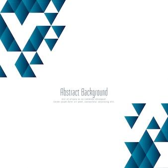 Fundo abstrato azul polígono triangular