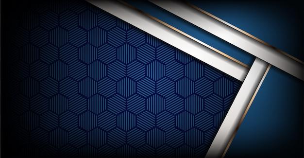 Fundo abstrato azul royal moderno