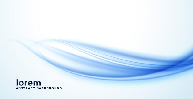 Fundo abstrato azul suave onda