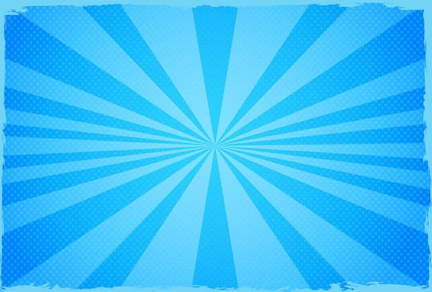 Fundo abstrato azul sunburst