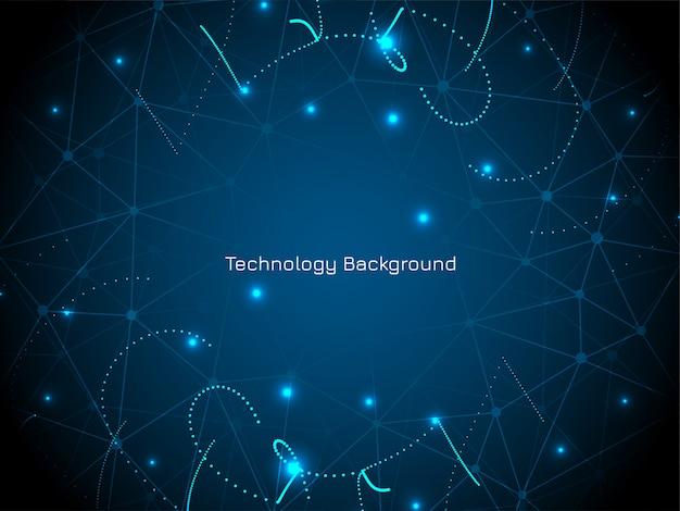 Fundo abstrato azul tecnologia digital