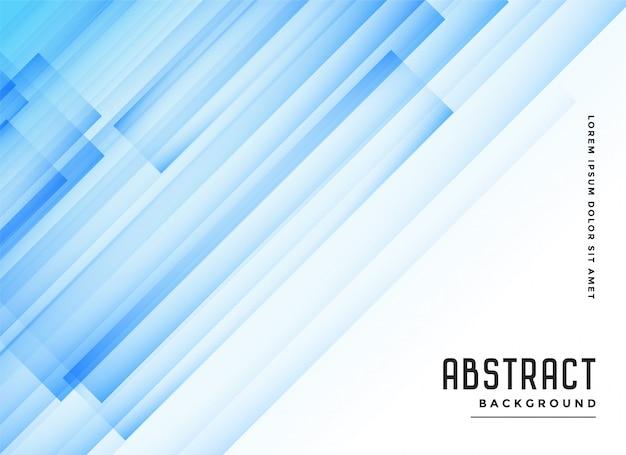 Fundo abstrato azul transparente linhas diagonais