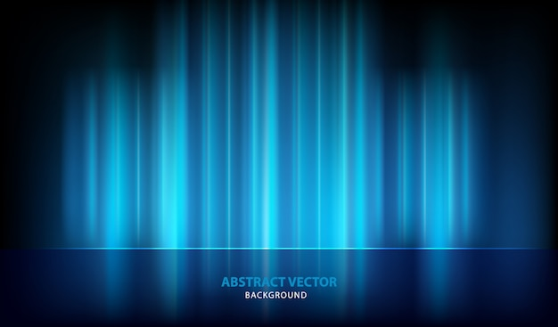 Fundo abstrato azul vector luz