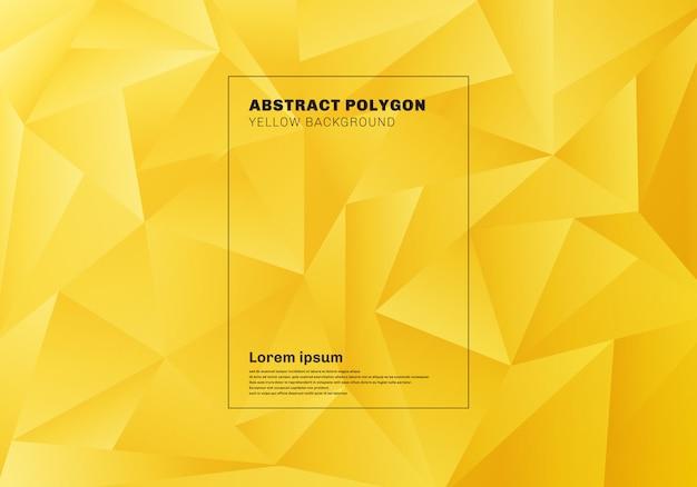 Fundo abstrato baixo polígono amarelo