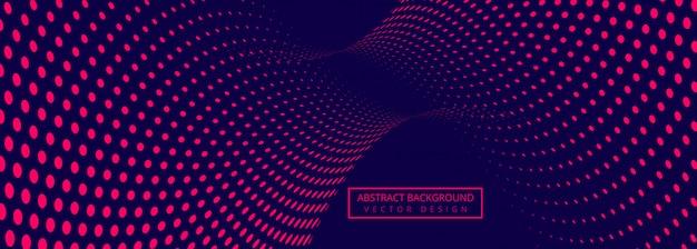 Fundo abstrato banner com conexão design pontilhado