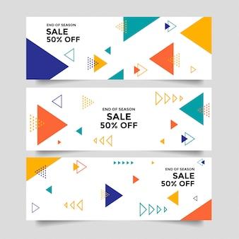 Fundo abstrato banner com formas geométricas