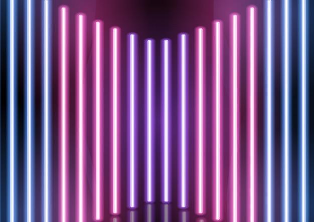 Fundo abstrato barras de néon