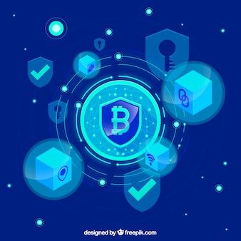 Fundo abstrato blockchain