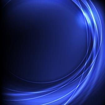 Fundo abstrato bonito plano na cor azul claro e escuro com efeito bokeh