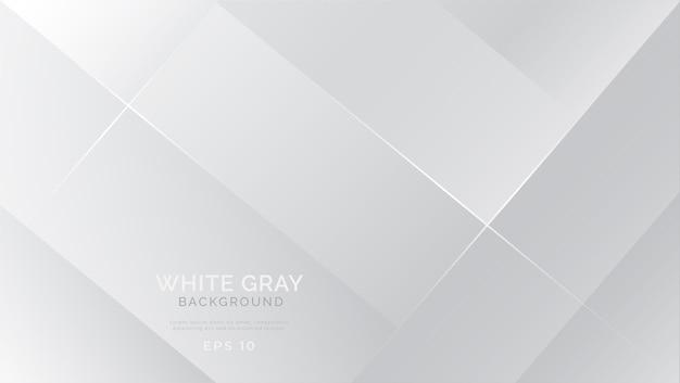 Fundo abstrato branco cinza moderno