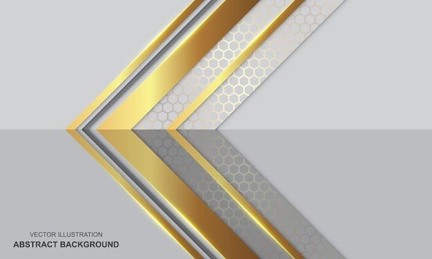 Fundo abstrato branco e dourado luxo moderno
