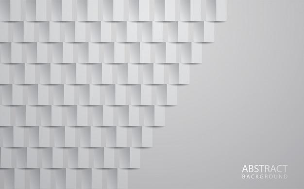 Fundo abstrato branco textura 3d papel arte estilo