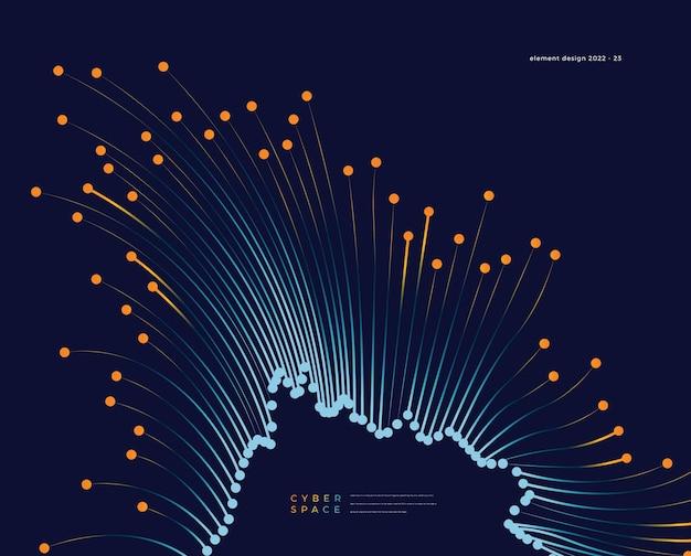 Fundo abstrato brilhante de fibra óptica