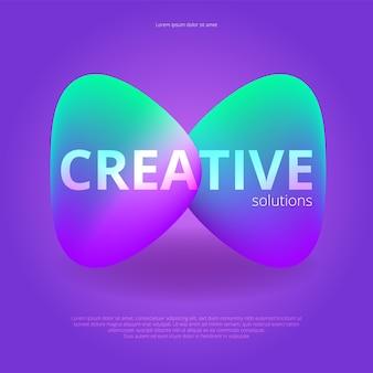 Fundo abstrato brilhante. design moderno e moderno.