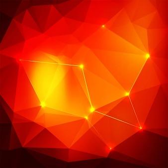 Fundo abstrato brilhante polígono vermelho