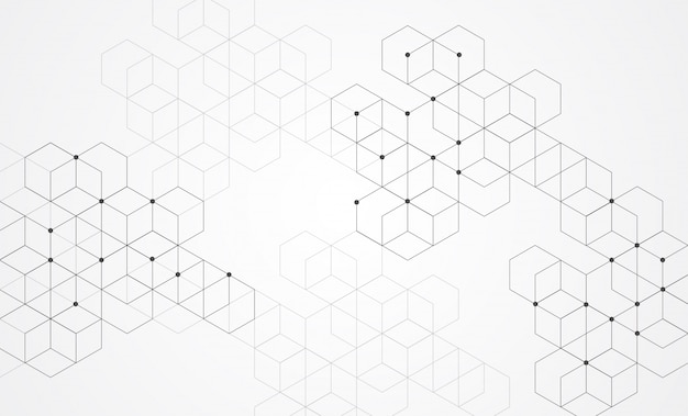Fundo abstrato caixas. tecnologia moderna com malha quadrada