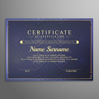 Fundo abstrato certificado de design