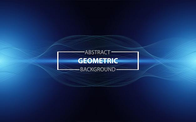 Fundo abstrato ciência gradiente azul linha ondulada moderna