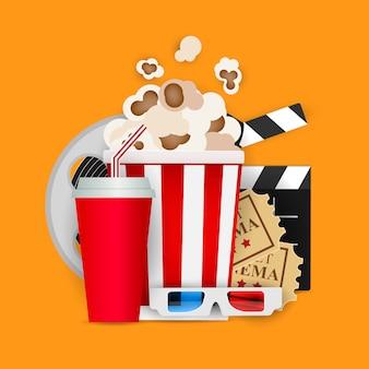 Fundo abstrato cinema em casa. ilustração