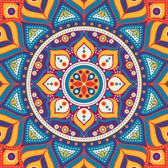 Fundo abstrato circular, mandala