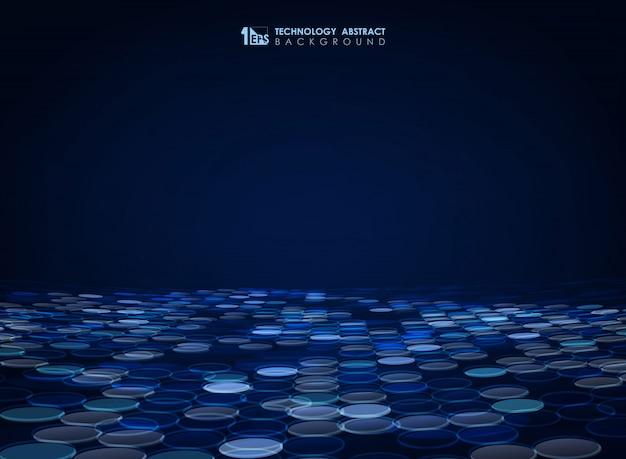 Fundo abstrato círculo azul