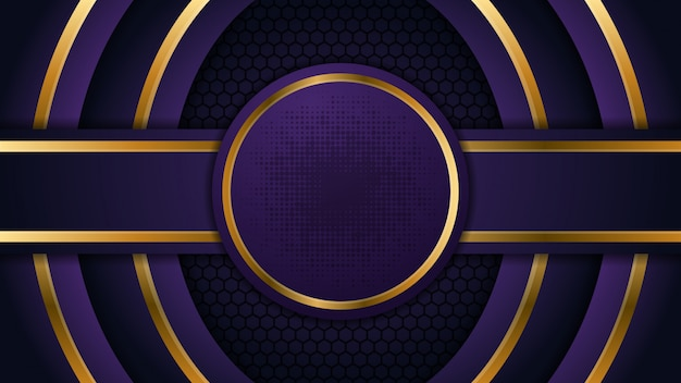 Fundo abstrato círculo com forma de ouro