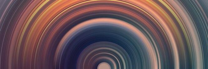 Fundo abstrato círculo com linhas brilhantes