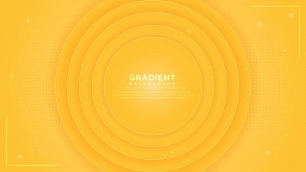 Fundo abstrato círculo gradiente amarelo