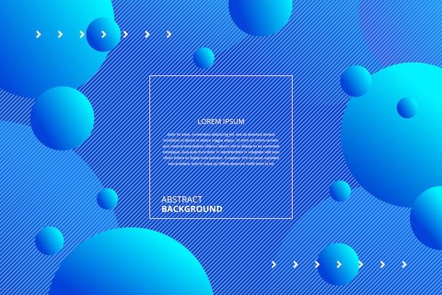Fundo abstrato círculos azuis gradiente