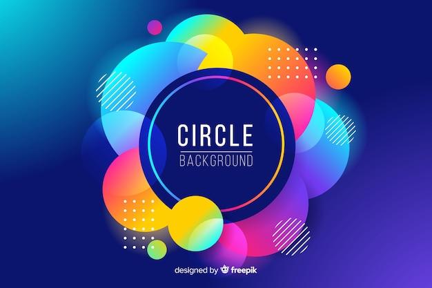 Fundo abstrato círculos coloridos