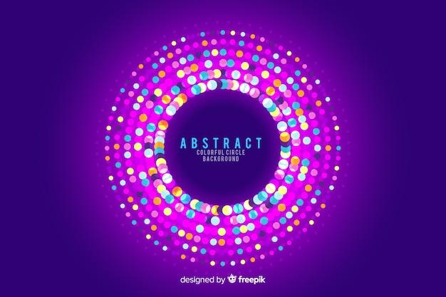 Fundo abstrato círculos com cores de guirlanda redonda