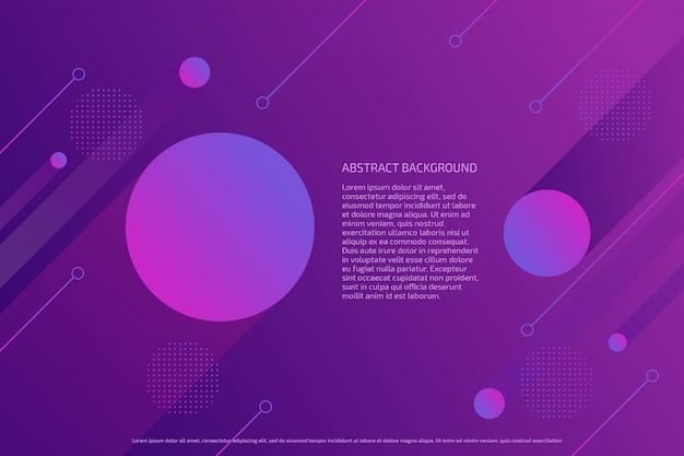 Fundo abstrato círculos gradiente