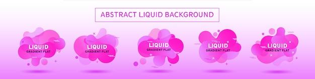 Fundo abstrato colletion violeta líquido moderno modelo de memphis