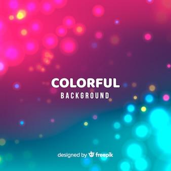 Fundo abstrato colorido bokeh