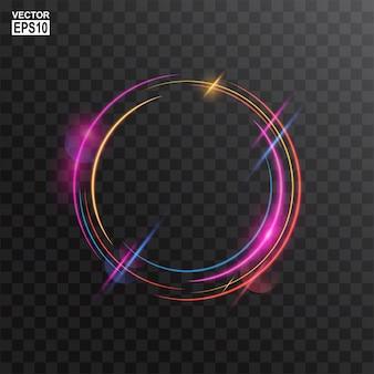 Fundo abstrato colorido círculo luz frame