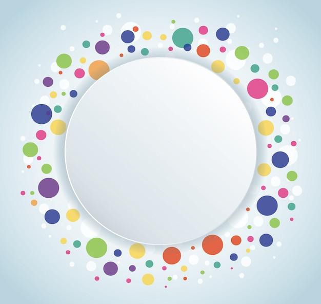 Fundo abstrato colorido círculo redondo