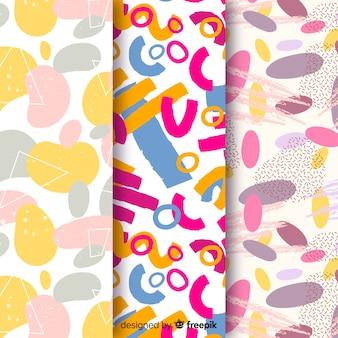 Fundo abstrato colorido coleção de padrão