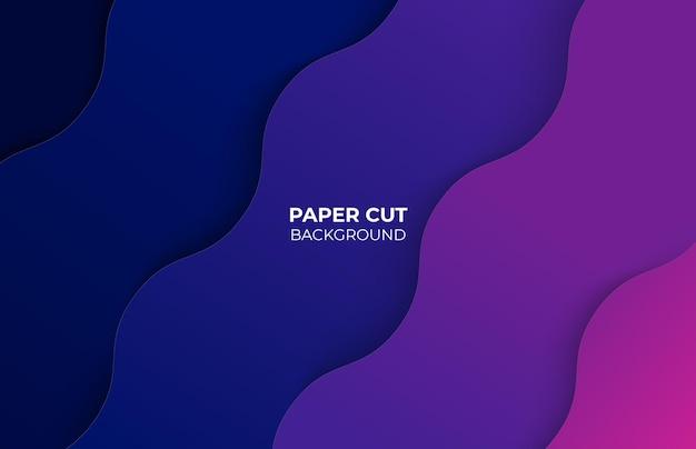 Fundo abstrato colorido com estilo de corte de papel