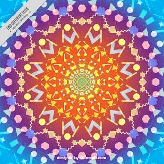 Fundo abstrato colorido com formas