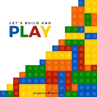Fundo abstrato colorido de jogar peças